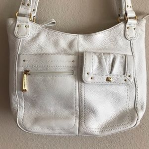 Stone Mountain Genuine White Leather Handbag purse